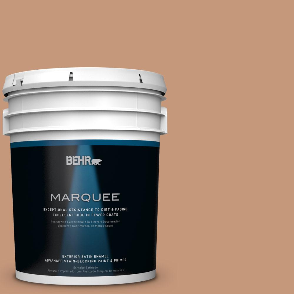 5-gal. #HDC-AC-02 Copper Moon Satin Enamel Exterior Paint