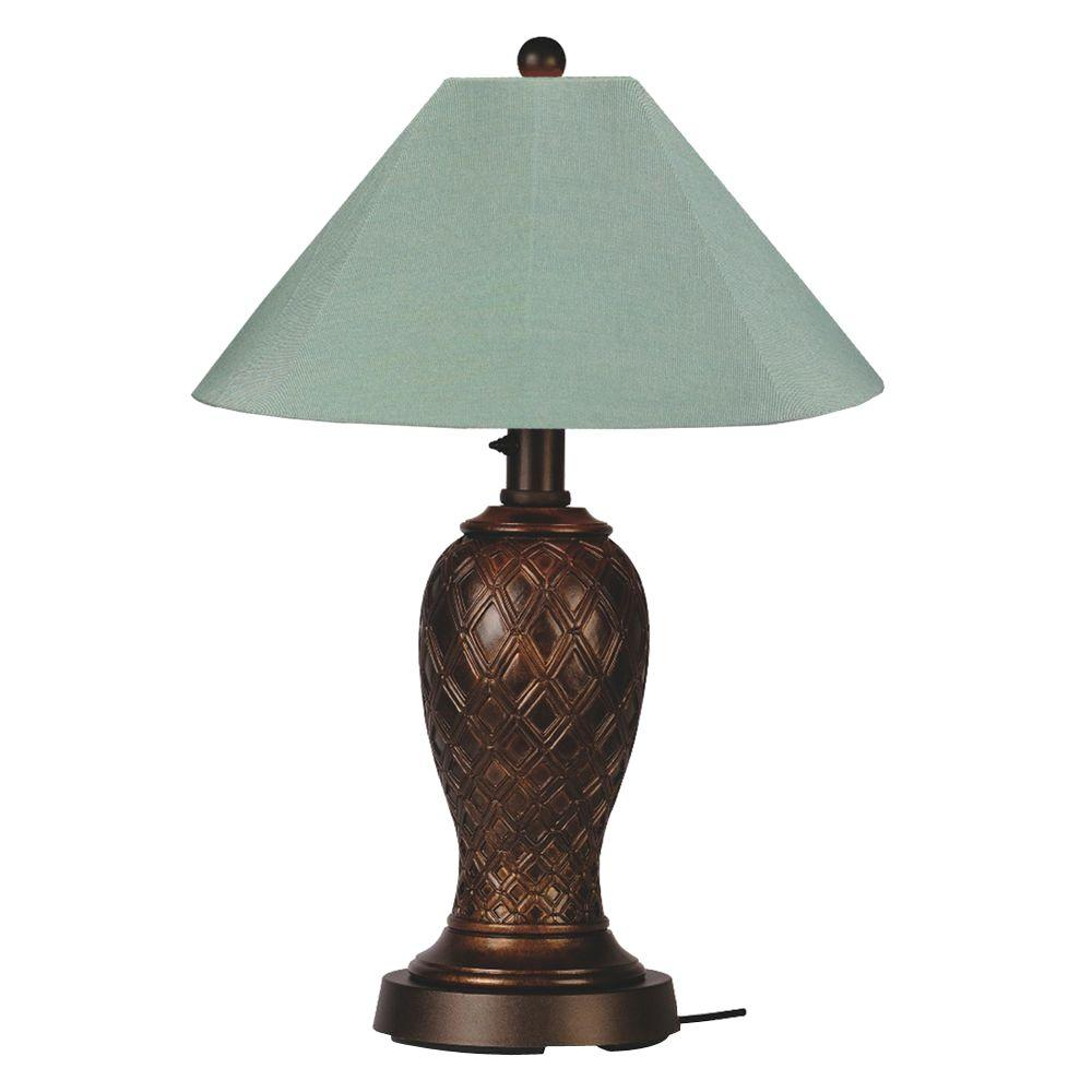 Patio Living Concepts Monterey 34 in. Bronze Outdoor Table Lamp with Spa Shade