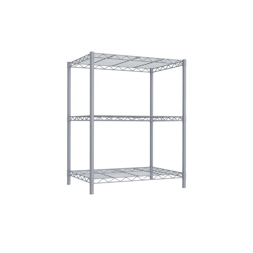Sunbeam 3-Tier 32 in. Steel Wire Shelf Gray-WS00690 - The Home Depot