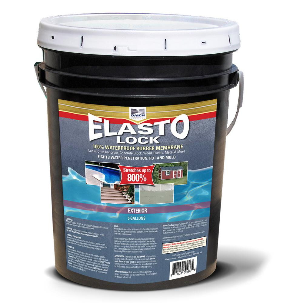 DAICH 5 Gal. Gray Exterior Damp-Proof Rubber Membrane Coating and Waterproofer