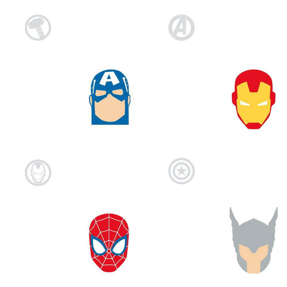 Avengers Character Spot Vinyl Peelable Wallpaper (Covers 28.29 sq. ft.)