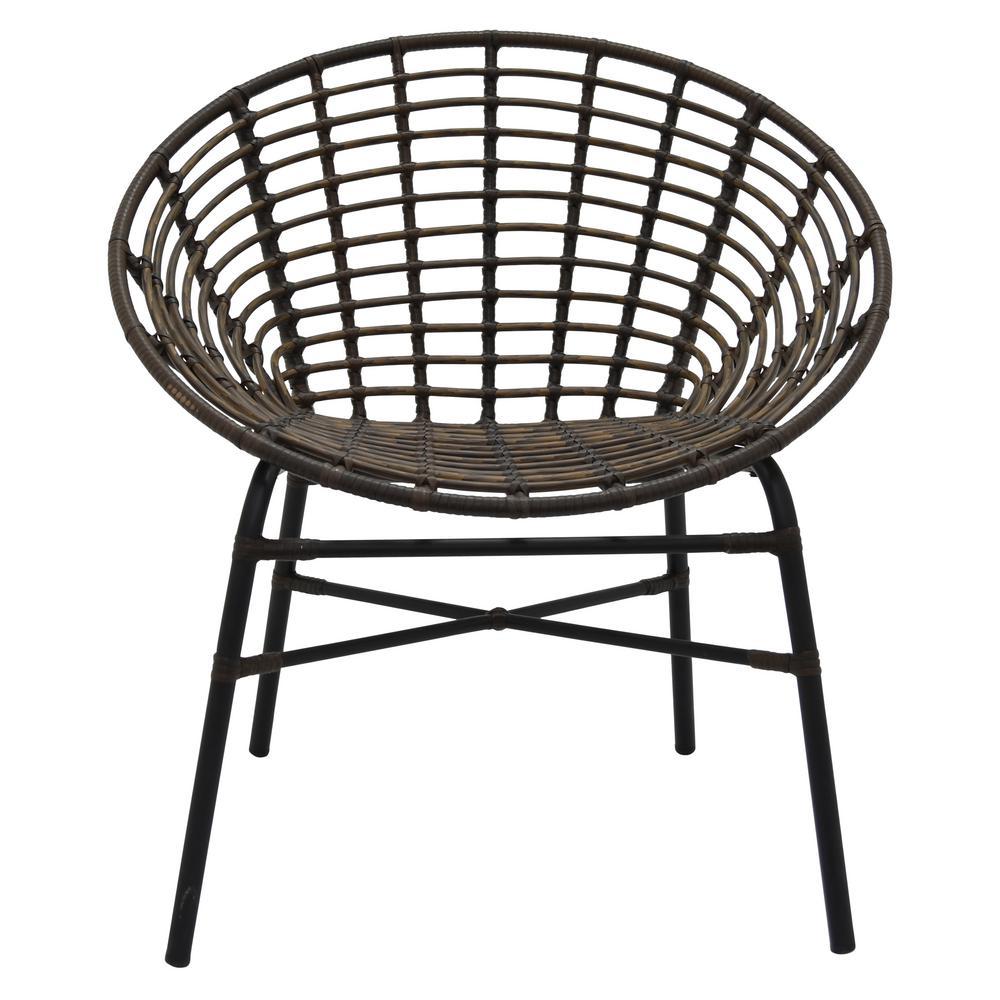 31 in. Brown Metal Chair