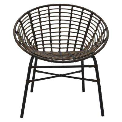 31 in. Brown Metal Chair