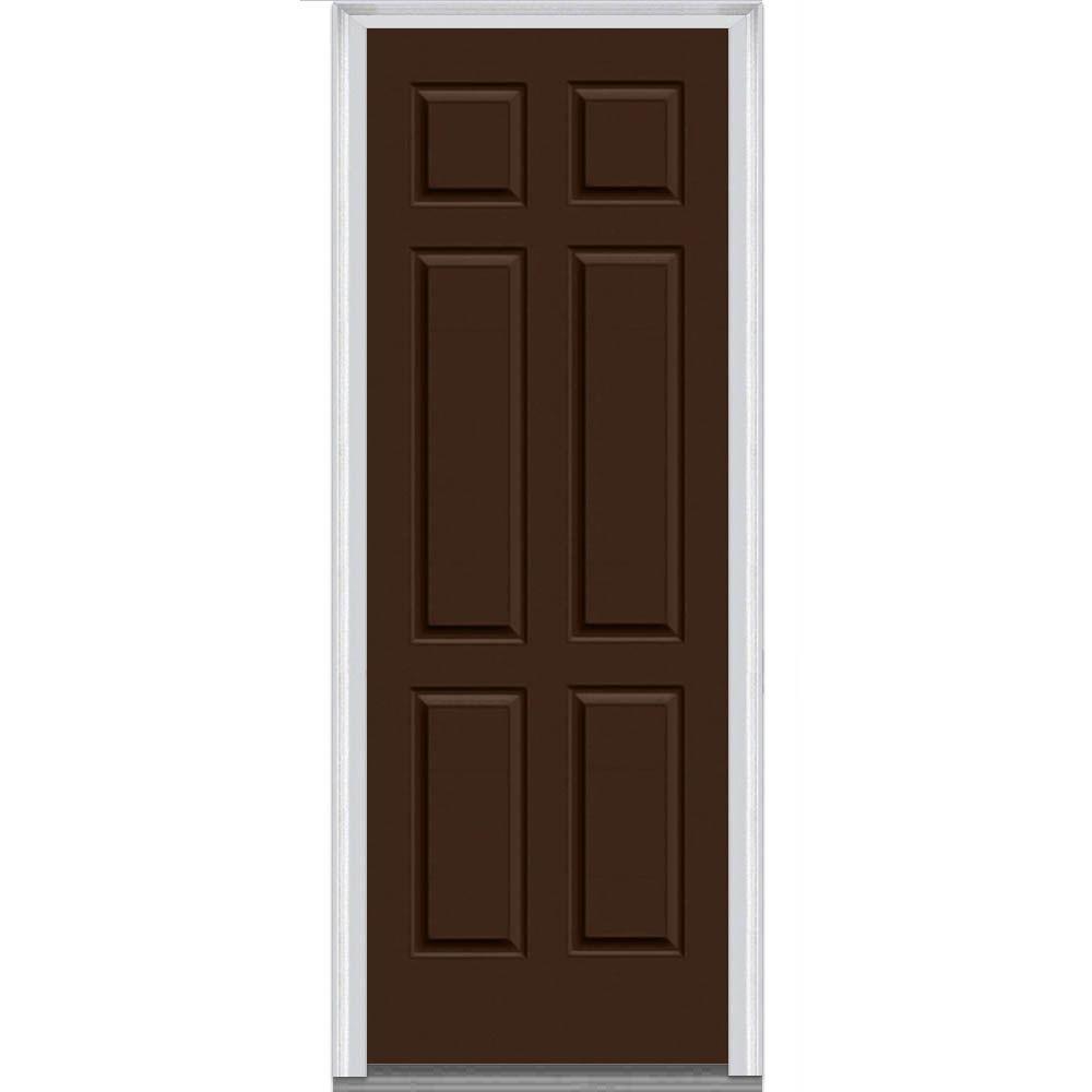 Mmi door 37 5 in x in 6 panel painted majestic for 6 window panel front door
