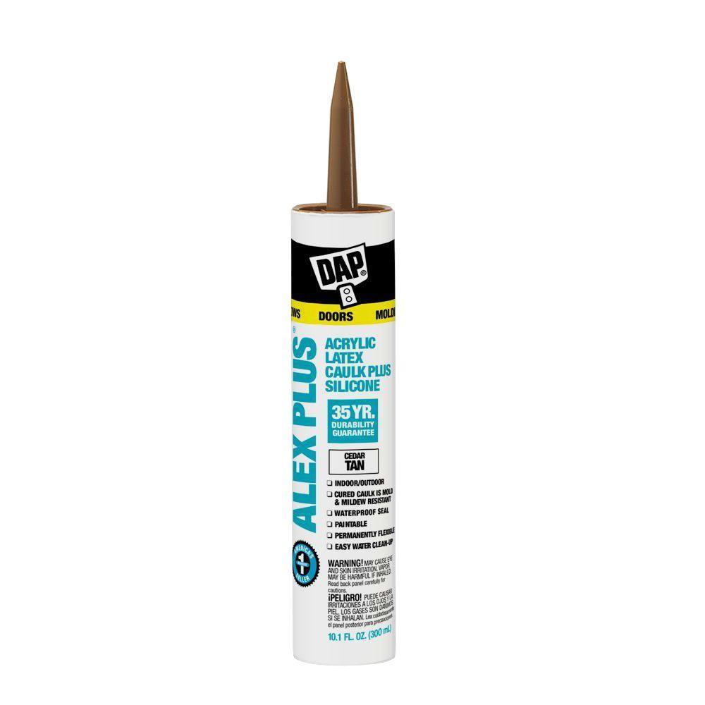 Alex Plus 10.1 oz. Cedar Tan Acrylic Latex Caulk Plus Silicone (12-Pack)