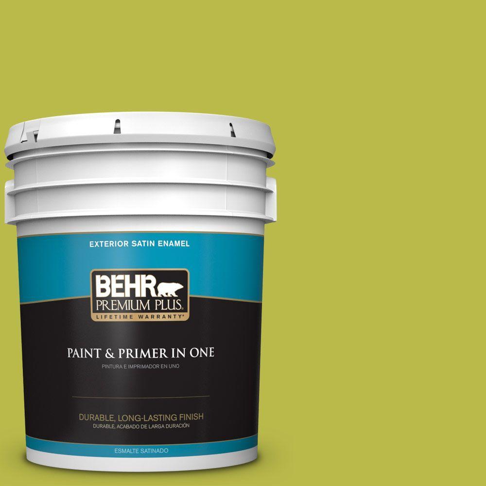 BEHR Premium Plus 5-gal. #400B-6 Japanese Fern Satin Enamel Exterior Paint