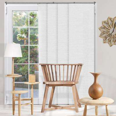 Panel Track Blinds Birch White Polyester Cordless Vertical Blinds - 80 in. W x 96 in. L