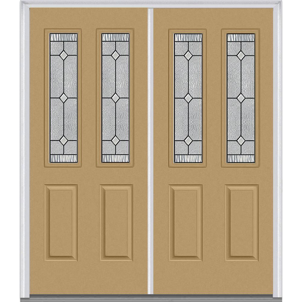 Double Doors Exterior Home Depot: MMI Door 66 In. X 81.75 In. Carrollton Decorative Glass 2