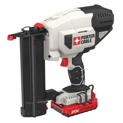 20-Volt MAX Lithium-Ion 18-Gauge Cordless Brad Nailer with Battery 1.5 Ah and Charger