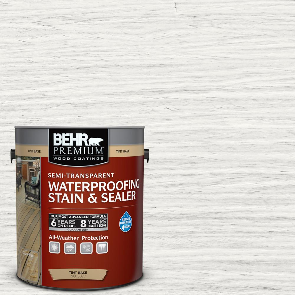 1 gal. #ST-210 Ultra Pure White Semi-Transparent Waterproofing Exterior Wood