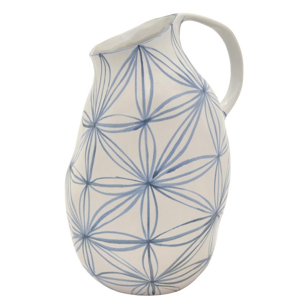 12 in. Blue Ceramic Vase