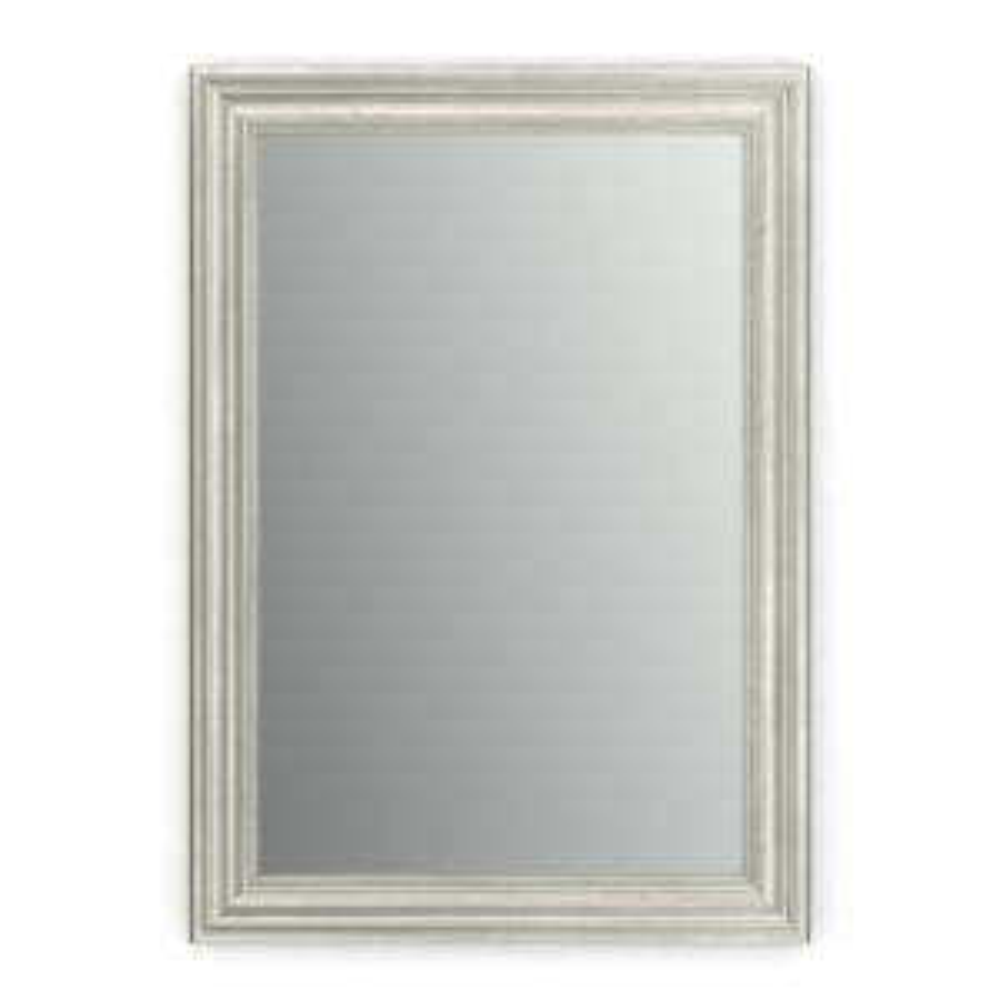 33 in. W x 47 in. H (L1) Framed Rectangular Standard Glass Bathroom Vanity Mirror in Vintage Nickel