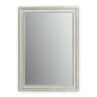 33 in. x 47 in. (L1) Rectangular Framed Mirror with Standard Glass and Easy-Cleat Flush Mount Hardware in Vintage Nickel