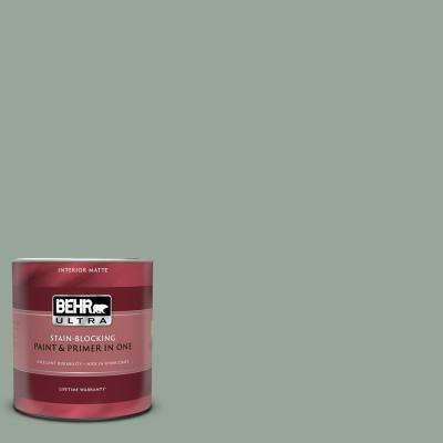 1 qt. #MQ6-17 Green Trellis Matte Interior Paint and Primer in One