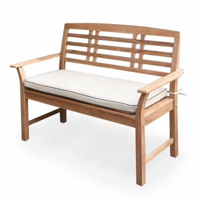 Belize Teak Outdoor Bench with Taupe Cushion