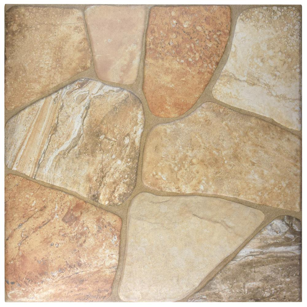 fce923c17647bb Lyon Beige 17-3/4 in. x 17-3/4 in. Ceramic Floor and Wall Tile (18 sq. ft.  / case)