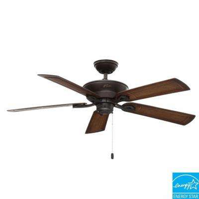 Caicos 52 in. Indoor/Outdoor New Bronze Wet Rated Ceiling Fan