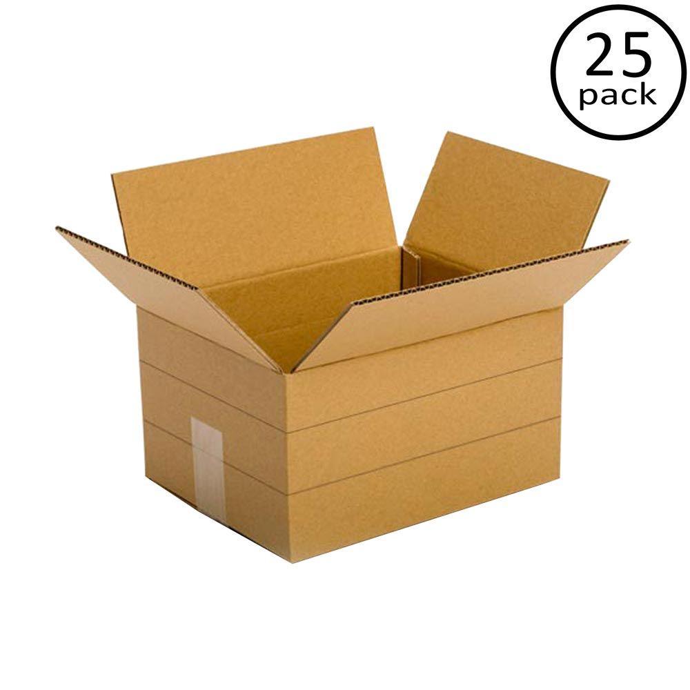 12 in. x 9 in. x 6 in. Multi-depth 25-Box Bundle