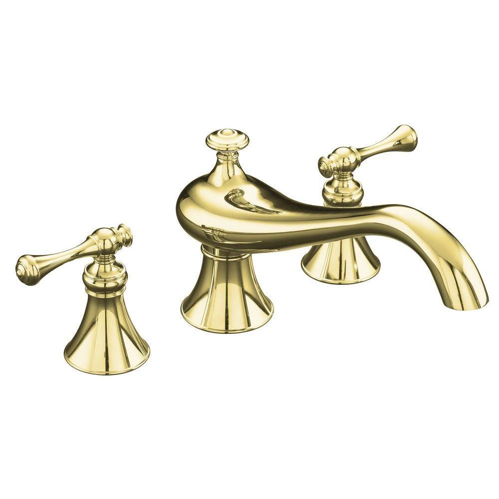 KOHLER Revival 2-Handle Deck-Mount Roman Tub Faucet Trim Only in ...
