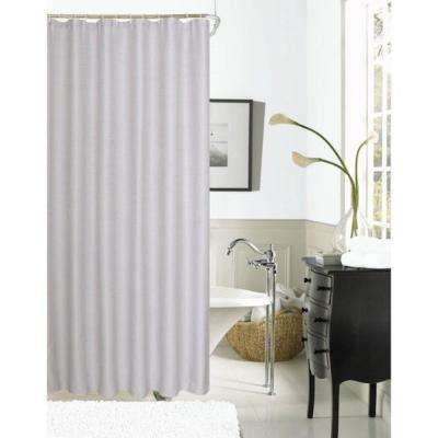 Exclusive Spa 251 Hotel Collection 72 in. Alloy Grey Waffle Shower Curtain
