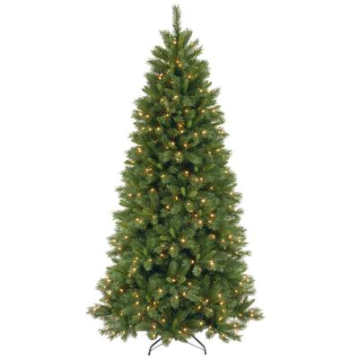 7-1/2 ft. Lehigh Valley Pine Hinged Artificial Christmas Tree with 500 Clear Lights