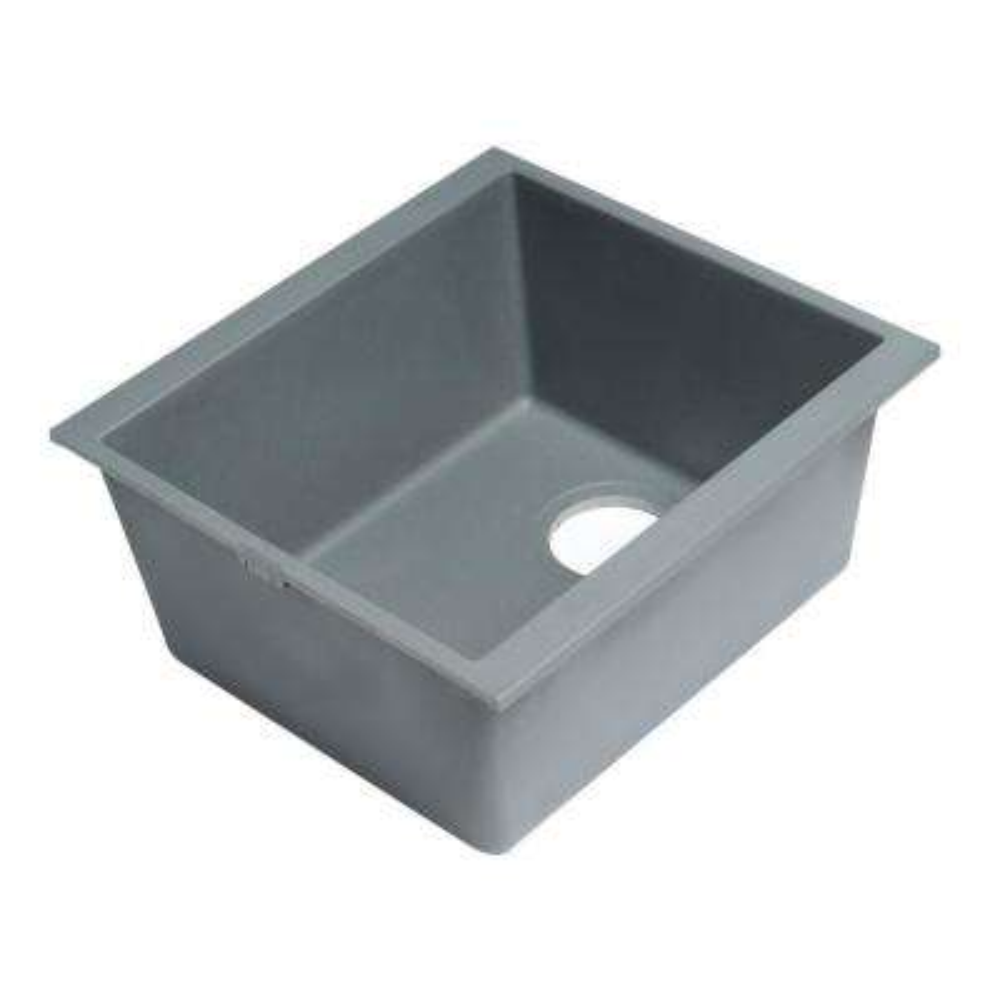 Undermount Granite Composite 16.13 in. Single Bowl Kitchen Sink in Titanium