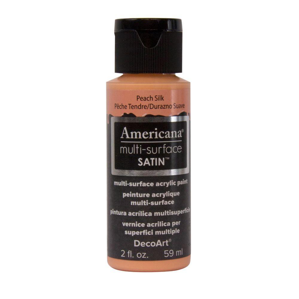 Americana 2 oz. Peach Silk Satin Multi-Surface Acrylic Paint