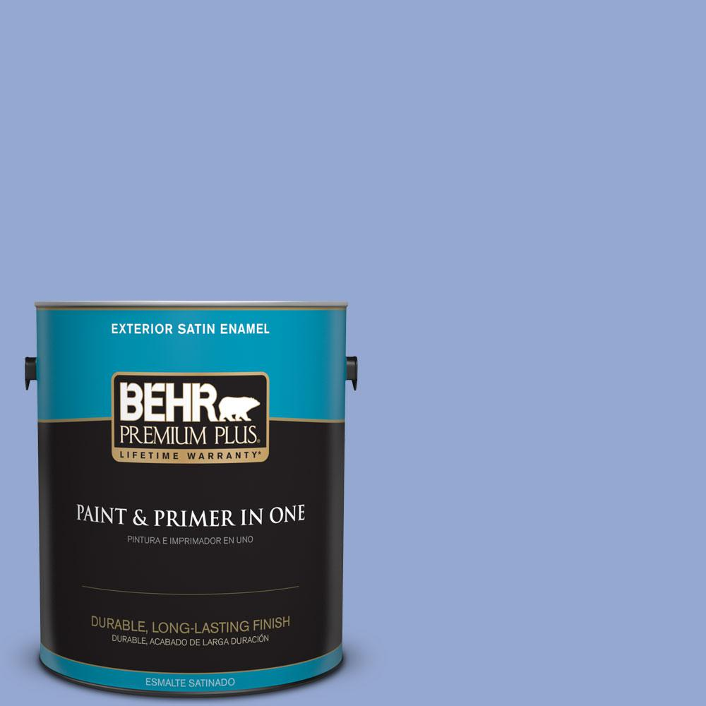 1-gal. #M540-4 Hopeful Dream Satin Enamel Exterior Paint