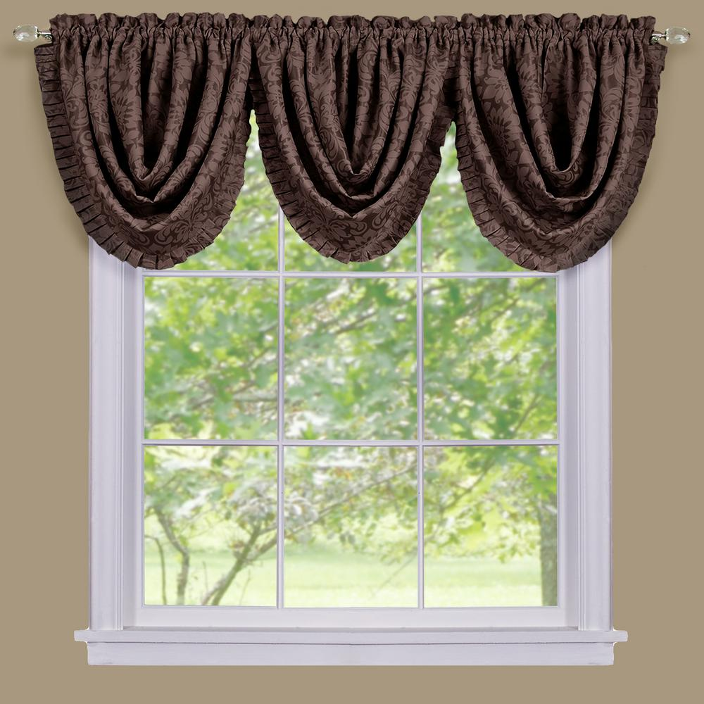 Achim Blackout Sutton 36 In. L Polyester Waterfall Valance