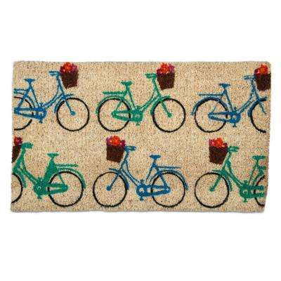 Bicycles 18 in. x 30 in. Coir Door Mat