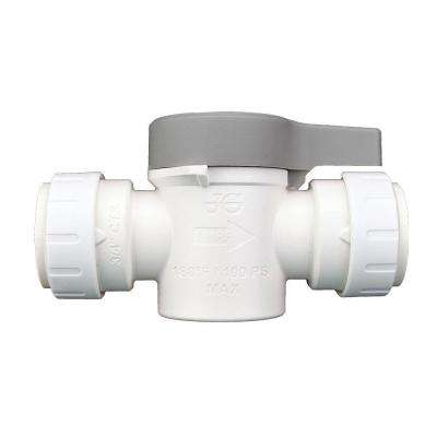 3/4 in. Plastic Push-to-Connect Shut Off Valve