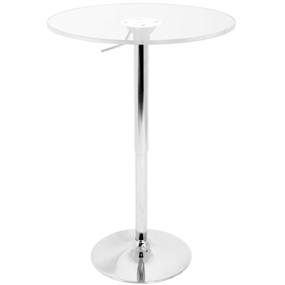 Lumisource Adjustable Clear Acrylic Top Bar Table