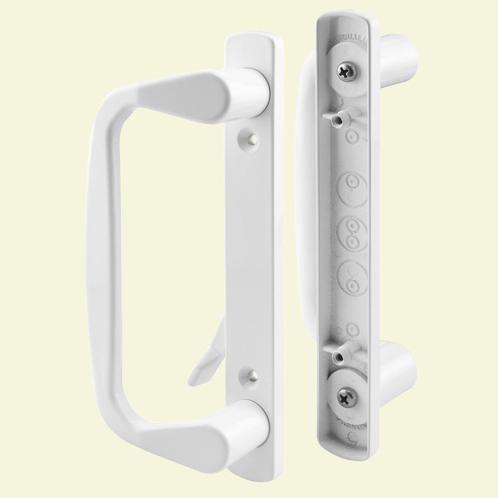 Prime Line Cast White Patio Door Handle