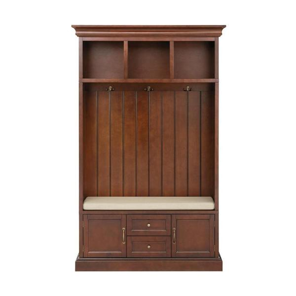 Home Decorators Collection Royce Smokey Brown 49 in. Hall Tree SK19075R1-SB