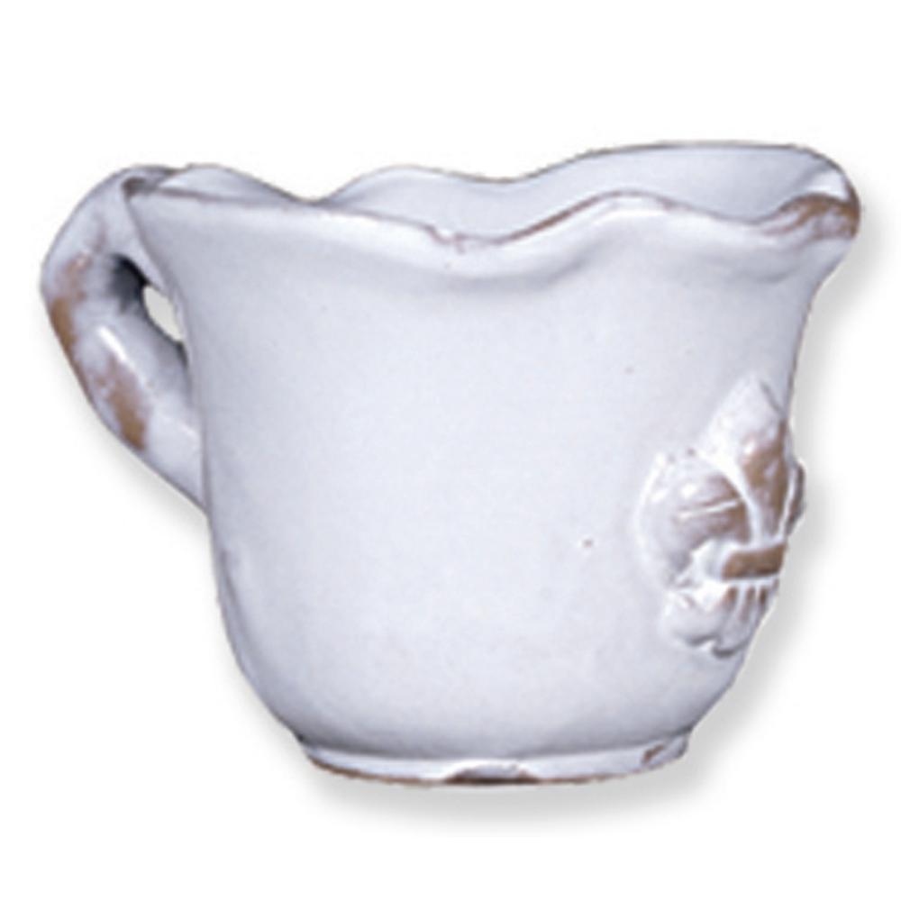Fleur De Lis 1.5 Quart White Ceramic Casserole Dish