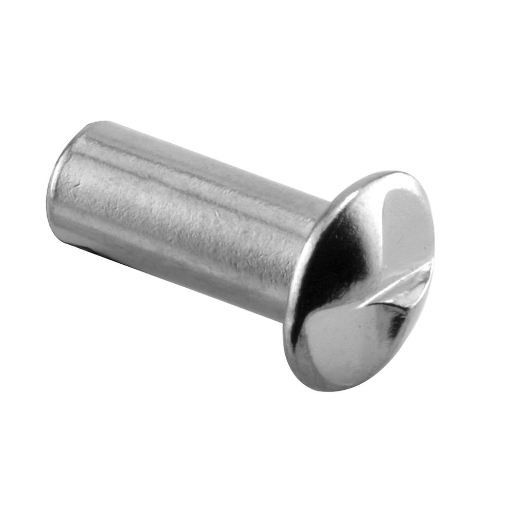 Prime-Line #10-24 x 5/8 in. Chrome One Way Barrel Nut (100-Pack)