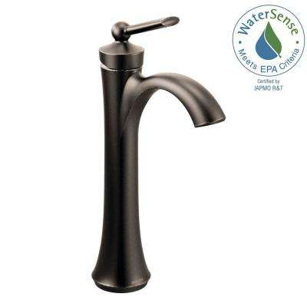 Wynford Single Hole Single-Handle Vessel Bathroom Faucet in Oil Rubbed Bronze
