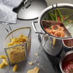 Tramontina Gourmet Prima 12 Qt. Stainless Steel Stock Pot with Pasta Inserts and Lid