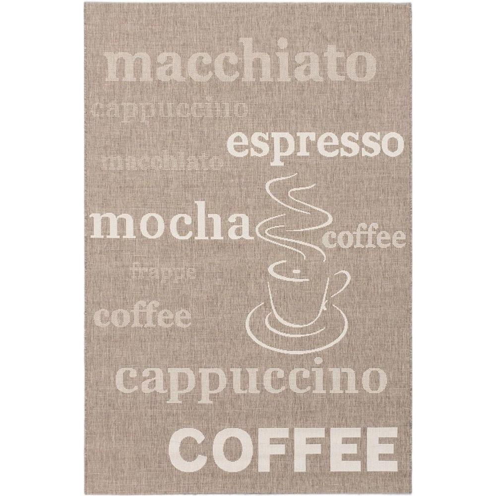 Cafe Mocha Dark Khaki 5 ft. x 8 ft. Area Rug