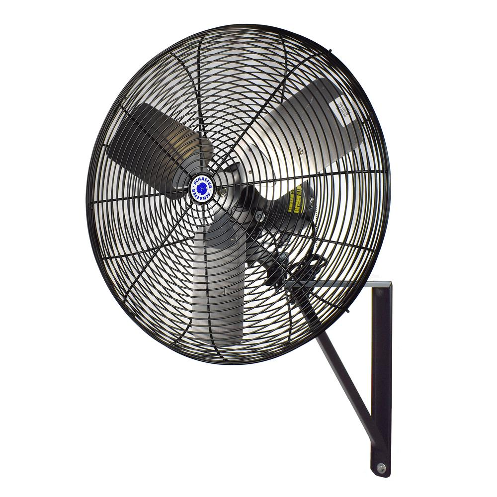 Wall Mounted Fans For Homes : Schaefer in black oscillating wall mounted fan tw b