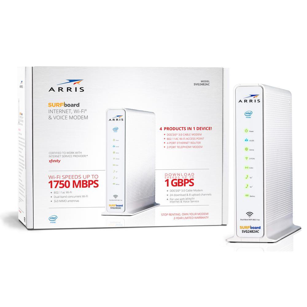 SURFboard SVG2482-AC DOCSIS 3.0 Wi-Fi Modem for Xfinity