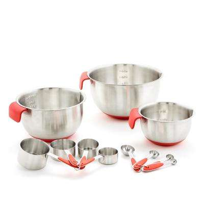 11-Piece Mixing Bowl, Measuring Cup and Measuring Spoon Set