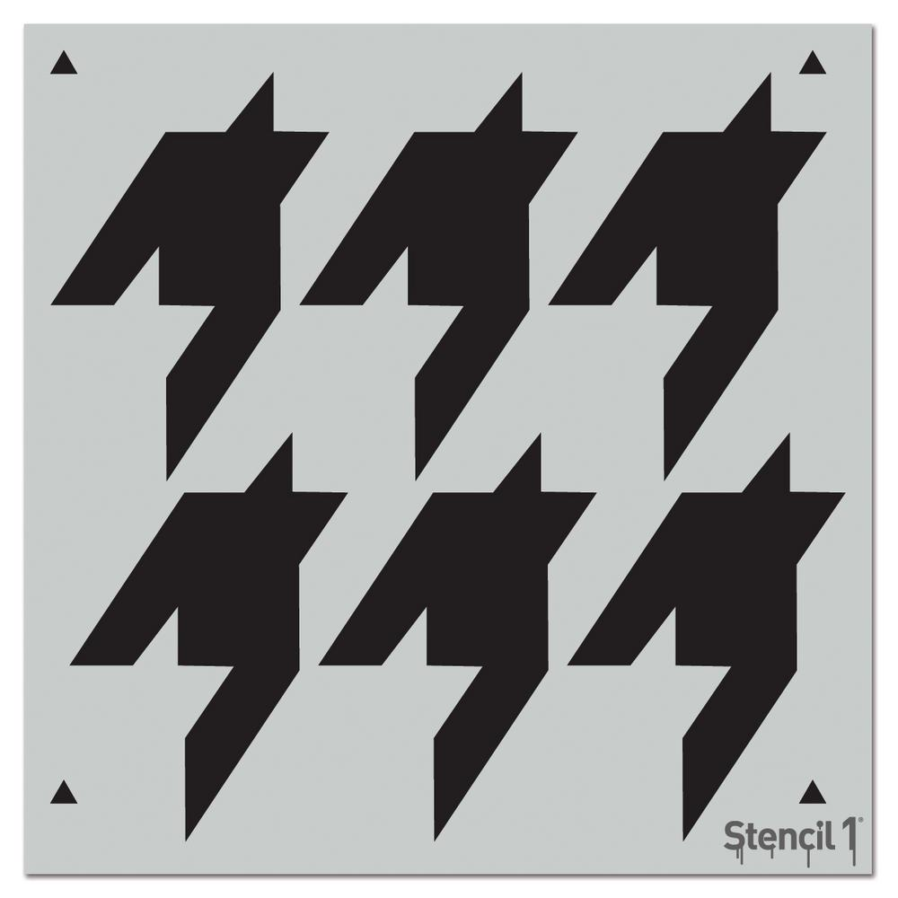 Stencil1 Houndstooth Repeat Pattern Stencil S1pa27 The Home Depot