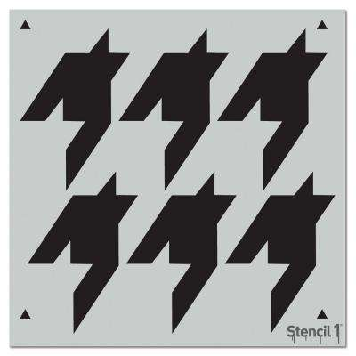 Houndstooth Repeat Pattern Stencil
