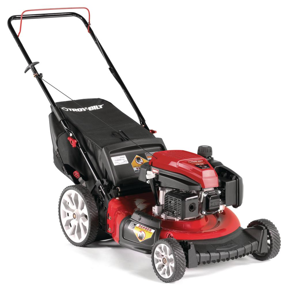 TroyBilt Troy-Bilt 21 in. 159 cc Gas Walk Behind Push Mower with Check Don't Change Oil and 3-in-1 Cutting TriAction Cutting System