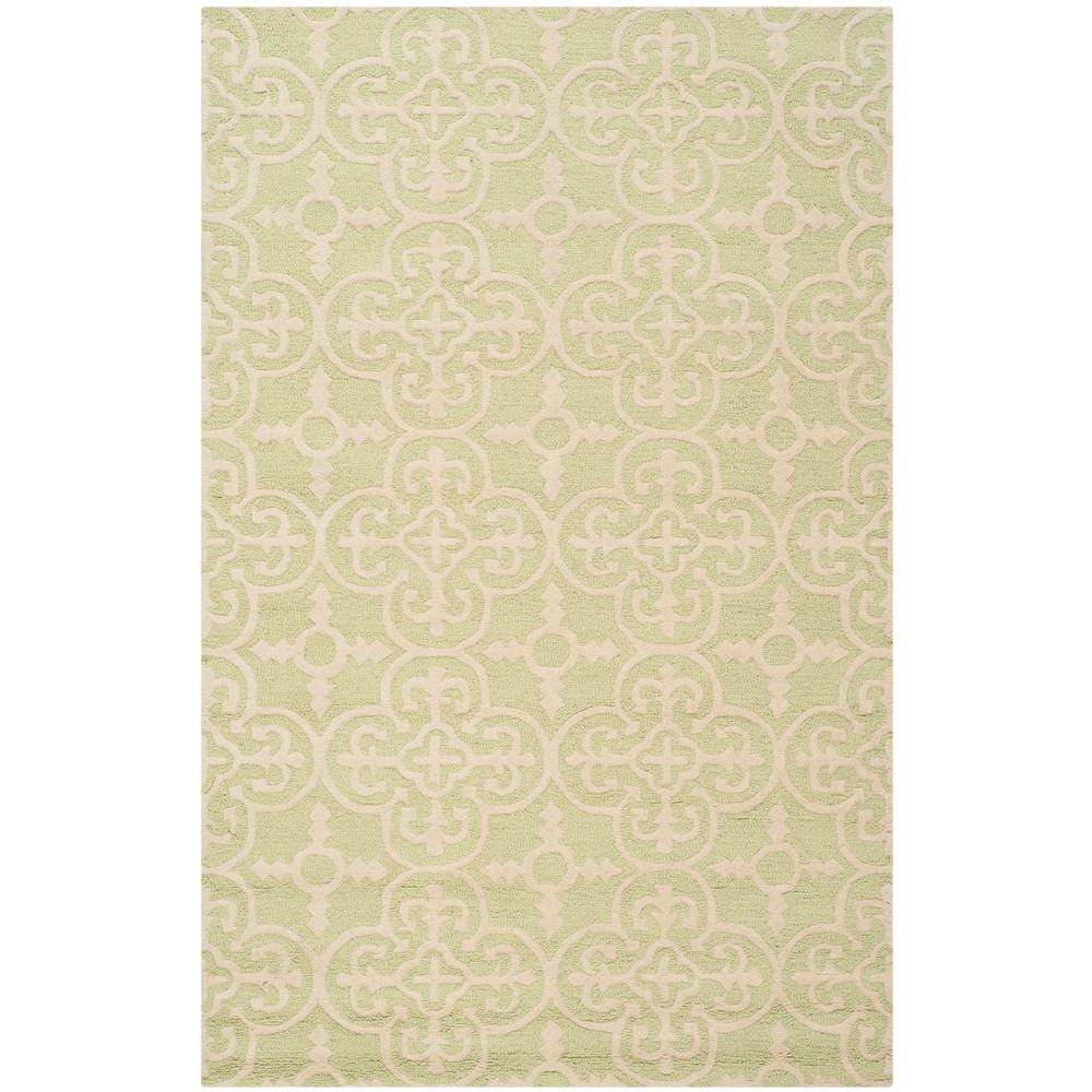 Cambridge Light Green/Ivory 5 ft. x 8 ft. Area Rug