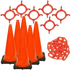 Mr. Chain 28 inch Traffic Cone and Chain Kit Orange by Mr. Chain