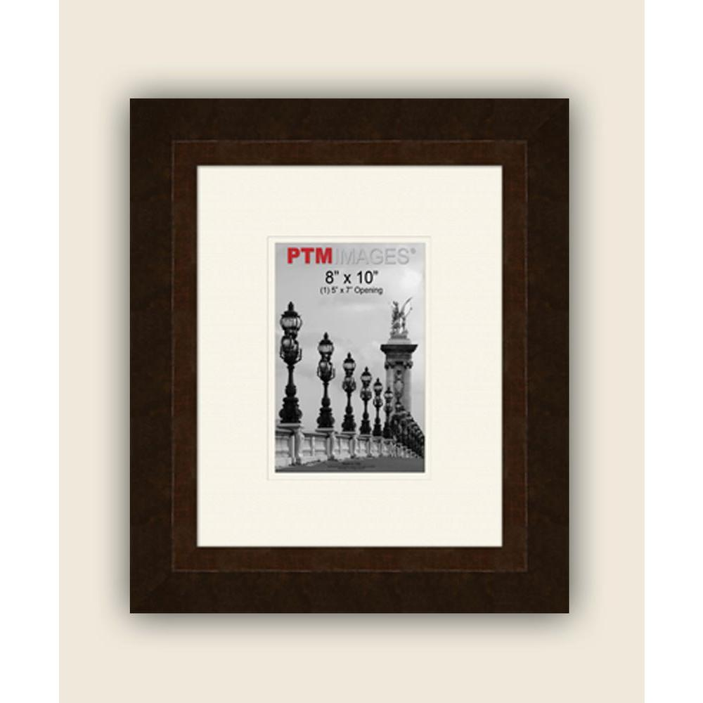 PTM Images 1-Opening 5 in. x 7 in. White Matted Bronze Photo Collage Frame