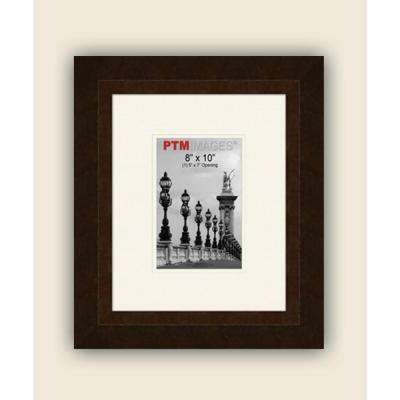 1-Opening 5 in. x 7 in. White Matted Bronze Photo Collage Frame
