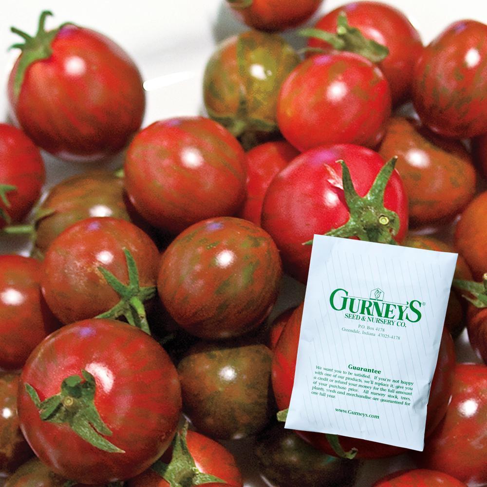 Tomato Zebra Cherry Hybrid 25 Seed Packet